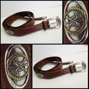 Leather Belt Size 100 / 40 Italian Full Grain
